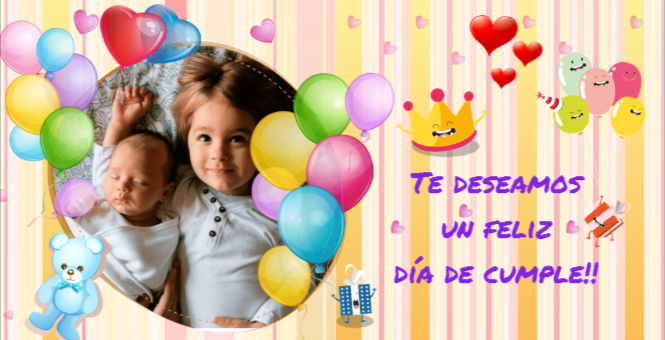 Tarjetas De Feliz Cumpleaños Con Foto Para Felicitar O Para