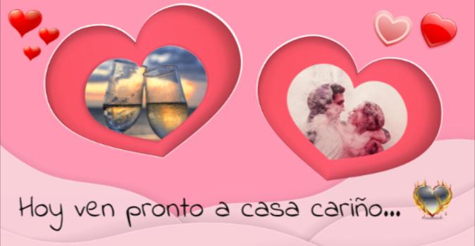 tarjetas de amor con corazones