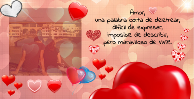 corazones rojos para una tarjeta romantica