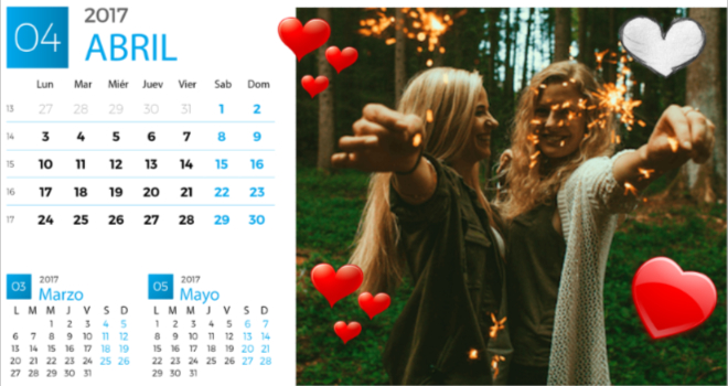 calendario para abril 2017
