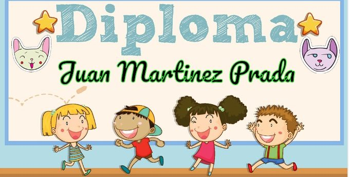 Divertidos y originales diplomas para niños.