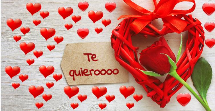 Mensaje romántico de te quiero mucho.