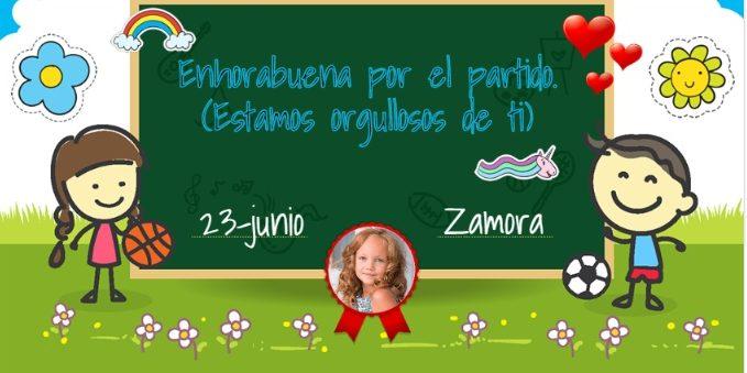 Diplomas deportivos personalizados para niños.