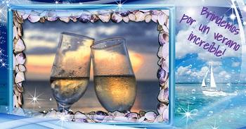 Enviar tarjetas con mensaje de feliz verano.