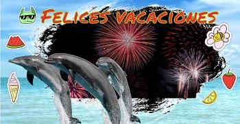 Imagen con delfines para tarjetas.