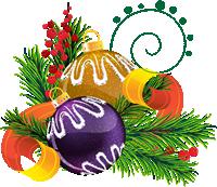 Adornos Tarjeta Navidad