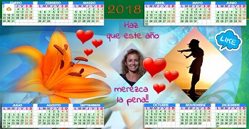 Calendario año 2018 para compartir.