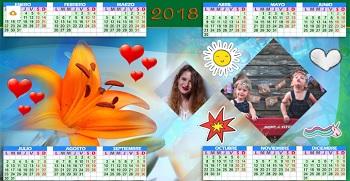 Enviar gratis calendario año 2018.