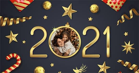 Tarjeta con foto personalizada 2021