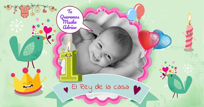 Mi Primer Añito Tarjetas De Cumpleaños Para Bebés En Su