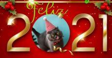 Tarjeta para personalizar Feliz Año Nuevo