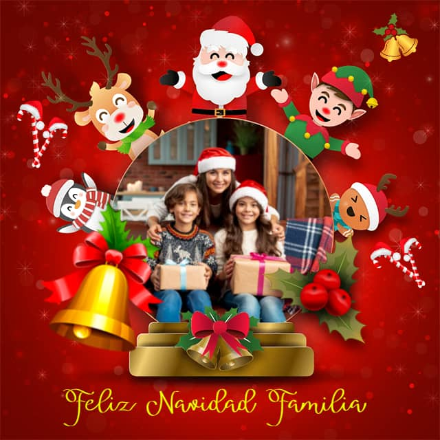 Tarjeta de Navidad Infantil