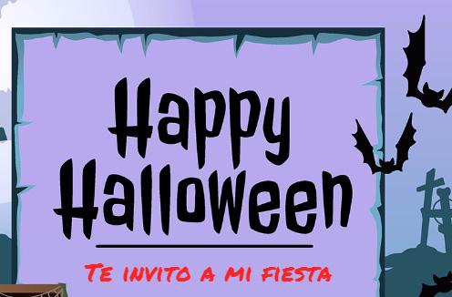 Invitacion para Halloween